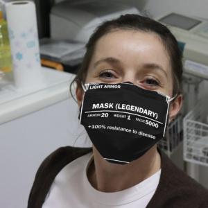 Light Armor Mask Legendary Cloth Face Mask