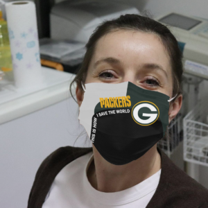 Packers – This Is How I Save The World Cloth Face Mask $19.95 $16.99