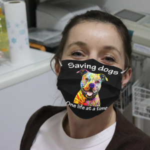 Pitbull – Saving Dogs One Life At A Time Cloth Face Mask
