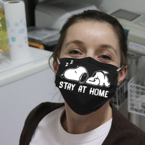 Snoopy Stay At Home Cloth Face Mask