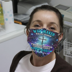 Way Maker Miracle Worker Promise Keeper Cloth Face Mask