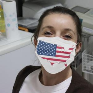 America Map Flag Cloth Face Mask