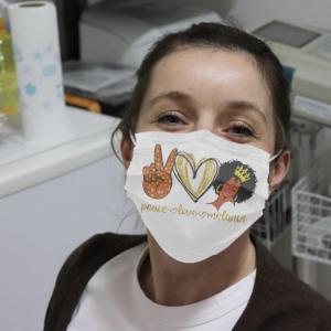 Peace Love Melanin Cloth Face Mask