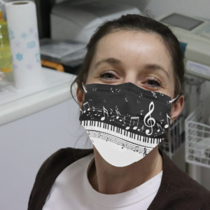 Piano and Music Notes Cloth Face Mask