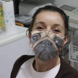 Pug Face Cloth Face Mask