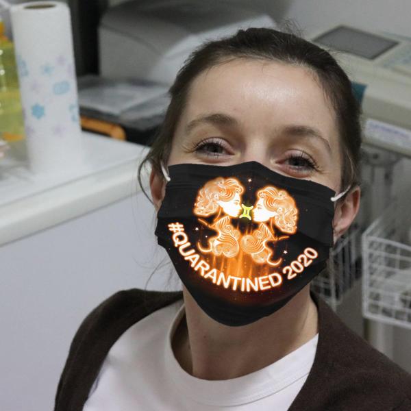 Zodiac - Gemini #Quarantined 2020 Cloth Face Mask