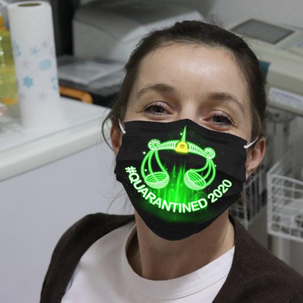 Zodiac - Libra #Quarantined 2020 Cloth Face Mask