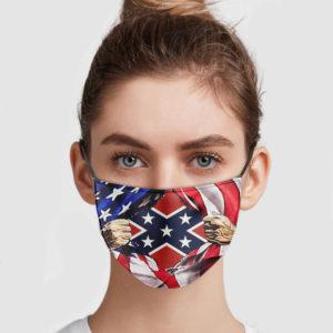 American Flag Blood Inside Me Confederate Flag Face Mask
