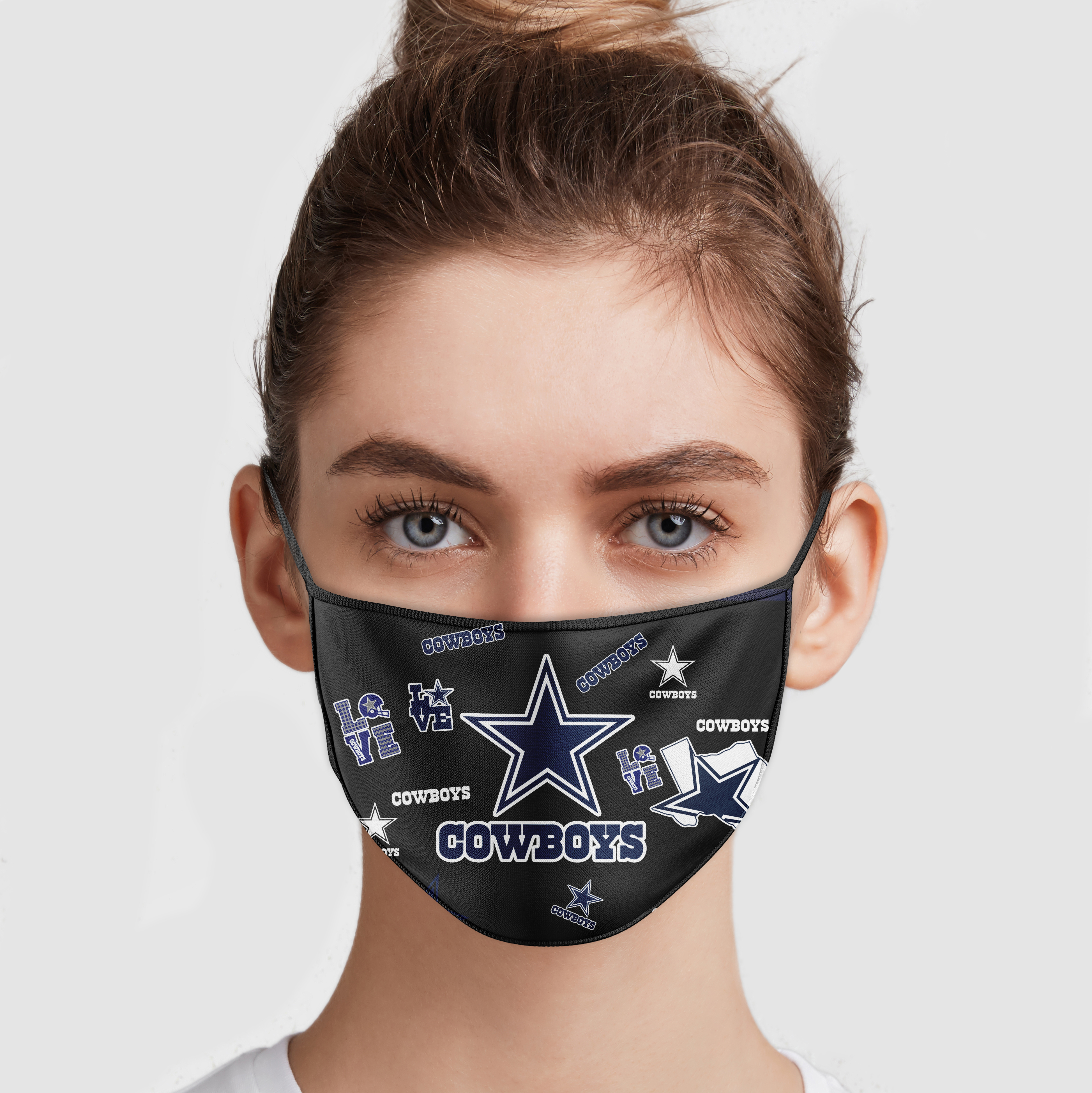 Dallas Cowboys Love Face Mask   Teemoonley.com