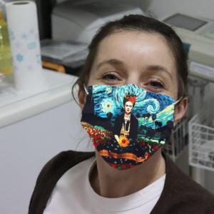 When Frida Met Vincent Face Mask