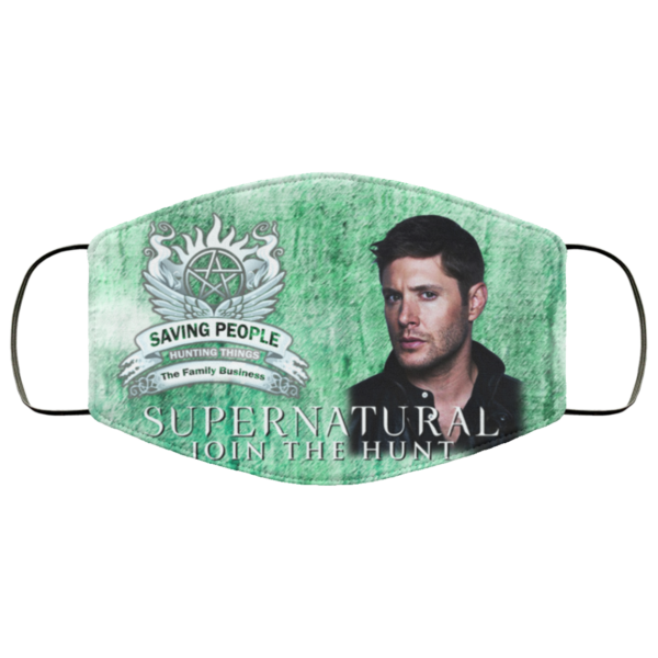 Supernatural Join The Hunt - Saving People Hunting Things Face Mask