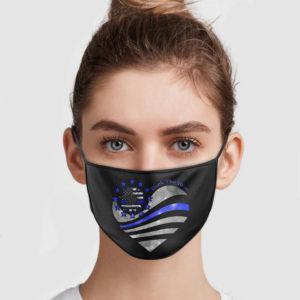 Sunflower Heart - Back The Blue Face Mask