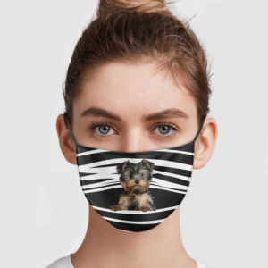 Yorkshire Terrier Stripes Face Mask