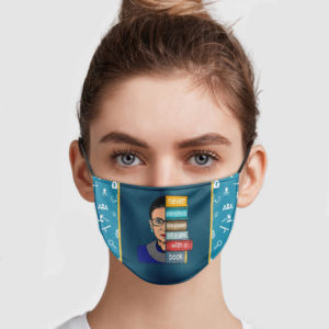 RBG – Never Underestimate The Power Of A Girl With A Book Face Mask