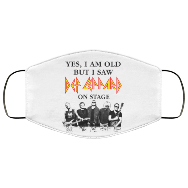 Yes I Am Old But I Saw Def Leppard On Stage Face Mask