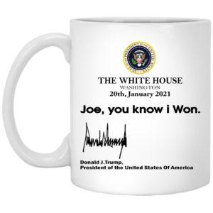 The White House Washington, Joe You Know I Won Mugs