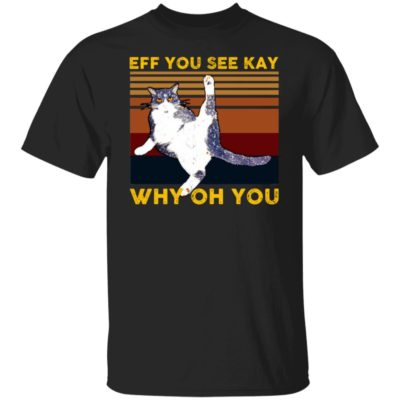 Cat Yoga Eff You See Kay Why Oh You Vintage Shirt