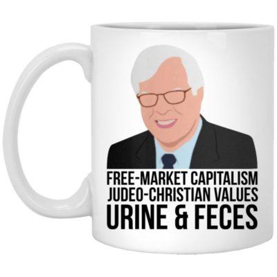 Free-market Capitalism Judeo-Christian Values Urine And Feces Mugs